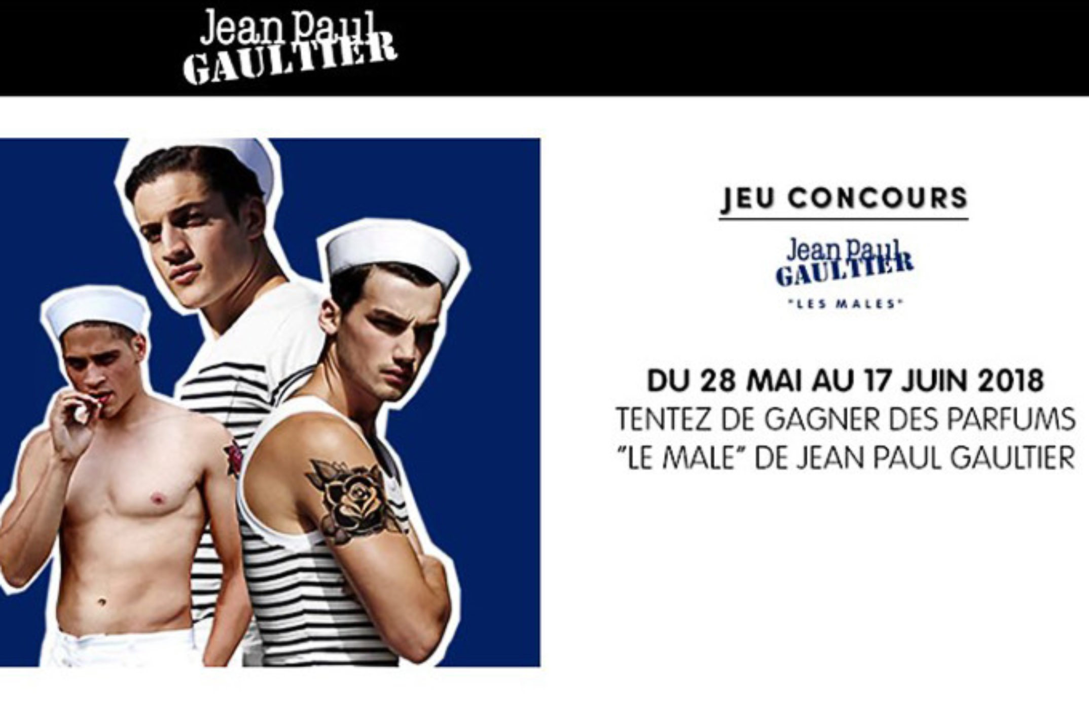 21 packs de parfums « Le Male » de Jean Paul Gaultier à gagner