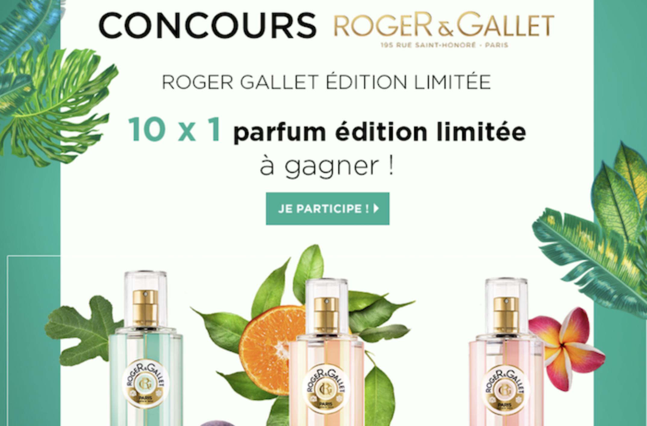 Concours Roger Gallet : des eaux de toilettes Roger Gallet à gagner