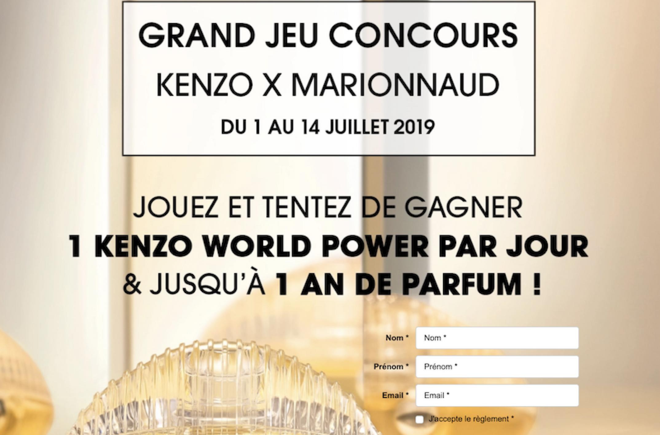 Grand jeu-concours Marionnaud – Montblanc : un an de parfum et un KENZO World à gagner sur marionnaud.fr