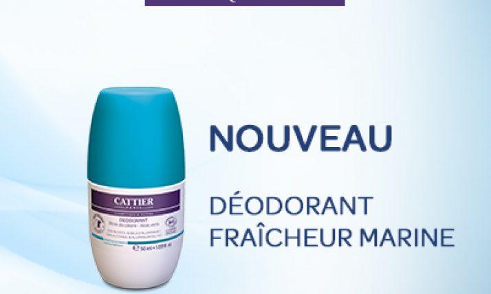 50 déodorants Roll-on Fraîcheur Marine de Cattier à tester sur beaute-test.com