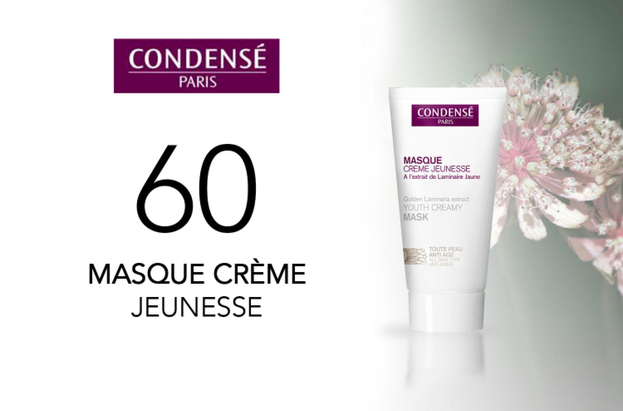 60 masques crème jeunesse de Condensé Paris à tester sur monvanityideal.com