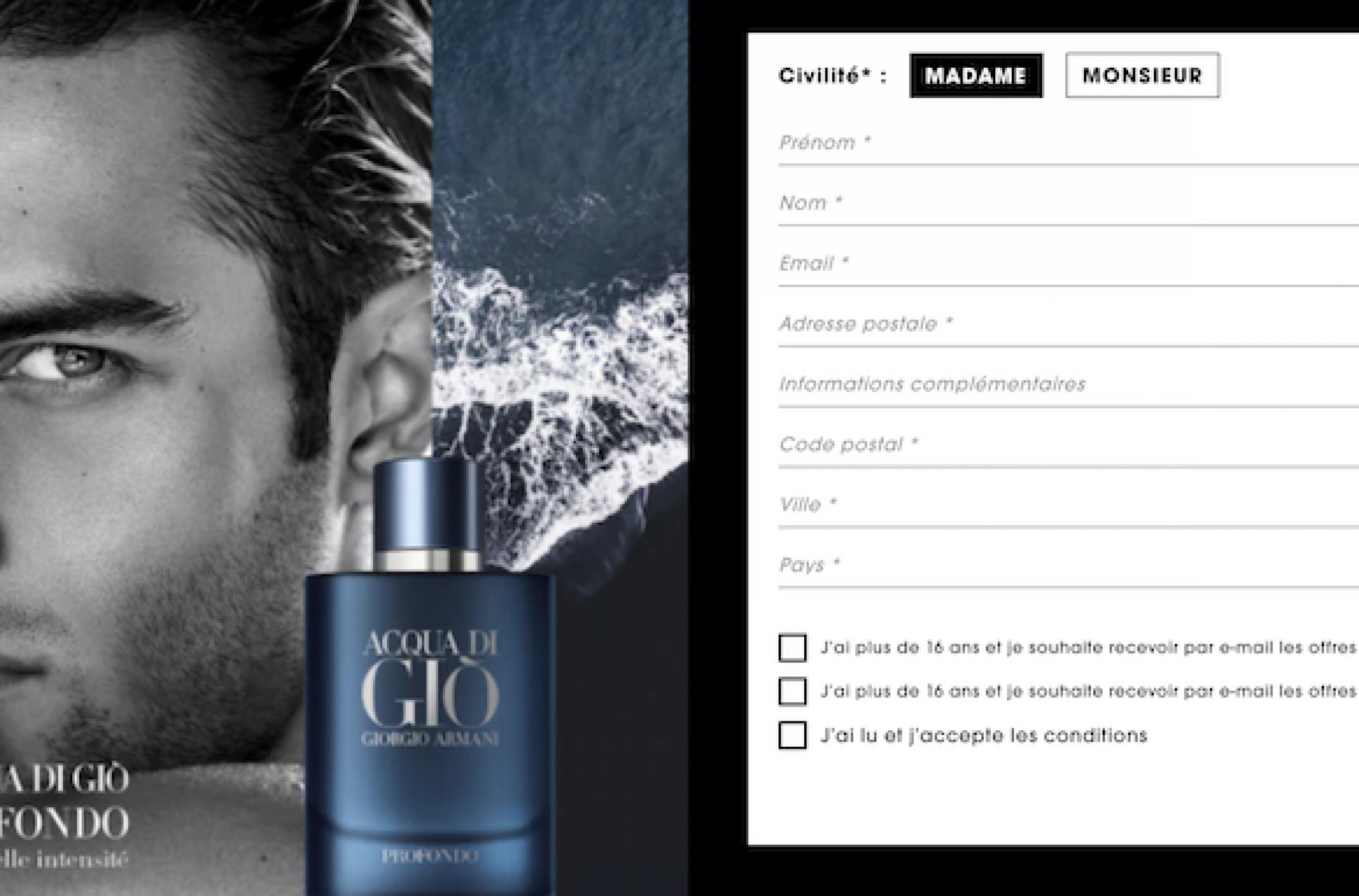 Un échantillon du parfum ACQUA DI GIÒ PROFONDO à recevoir sur sephora.fr
