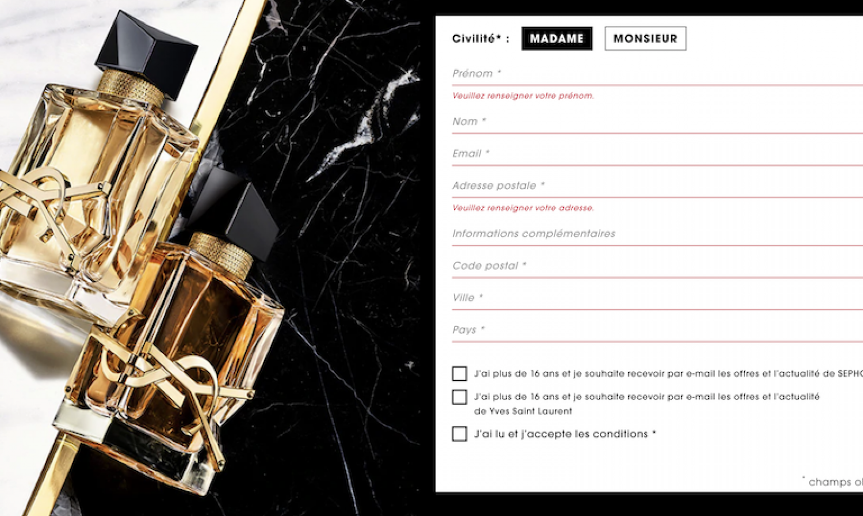 Des échantillons gratuits du parfum Yves Saint Laurent Libre Eau de Parfum Intense à recevoir sur sephora.fr